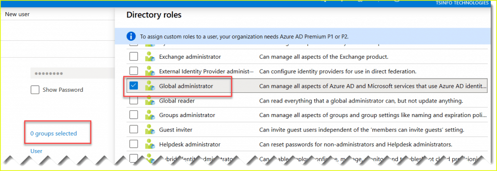 Assign user to global administrator