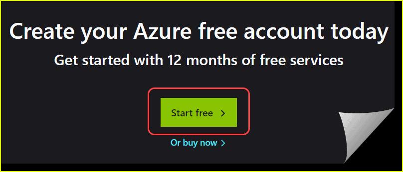 create azure free account