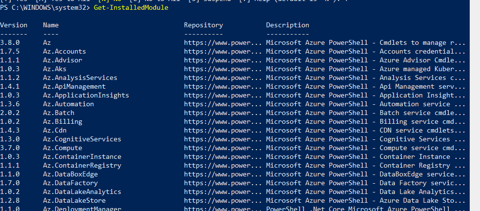 Install Azure AD PowerShell Module