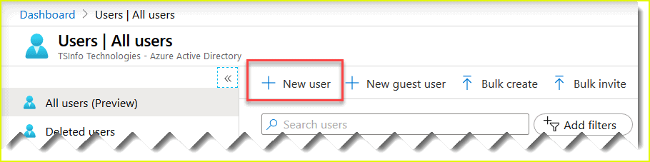 create user account in Azure active directory