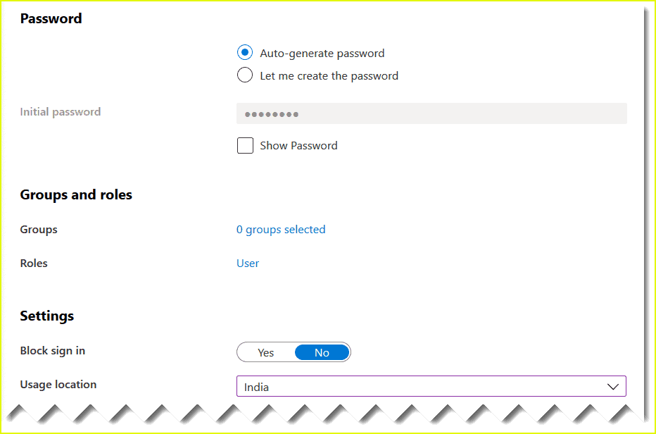 create user in azure ad