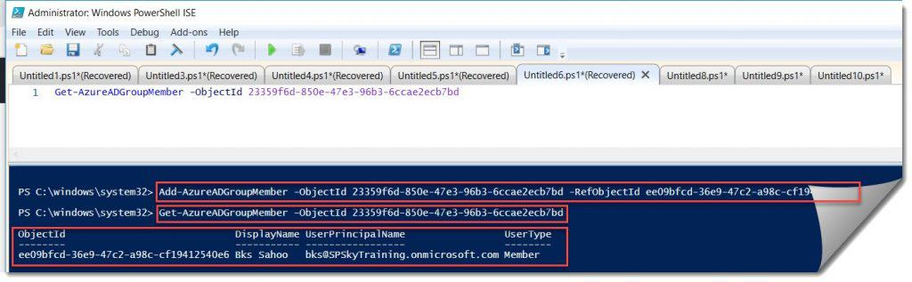 Add members to the AD group using powershell.