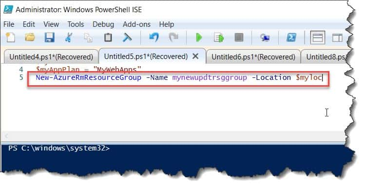Create an Azure web app using PowerShell