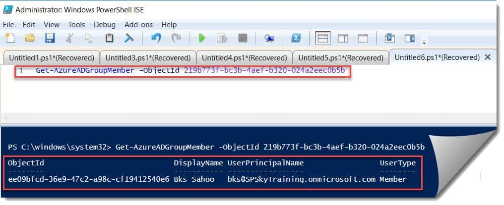 Get members from specific AD group using PowerShell