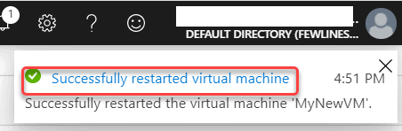 How can I restart my Azure VM