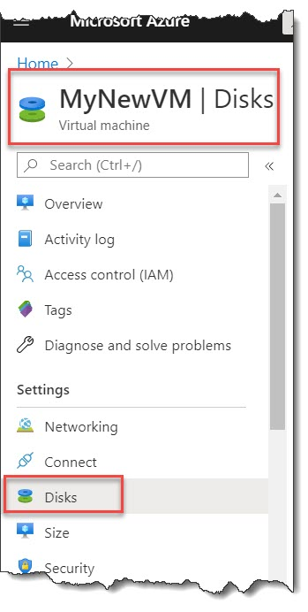 How do I detach data disk from Azure VM?