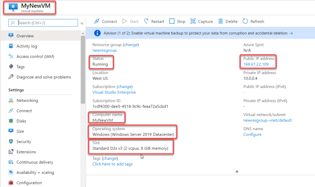 How to enable a static public IP for an existing VM in Azure?