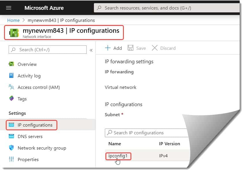How to add a static public IP for an existing VM