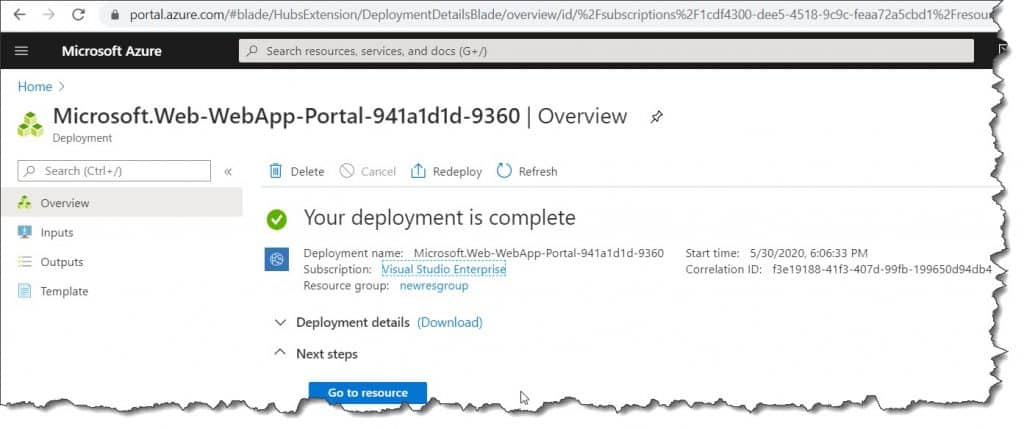 How to add a web application in Azure