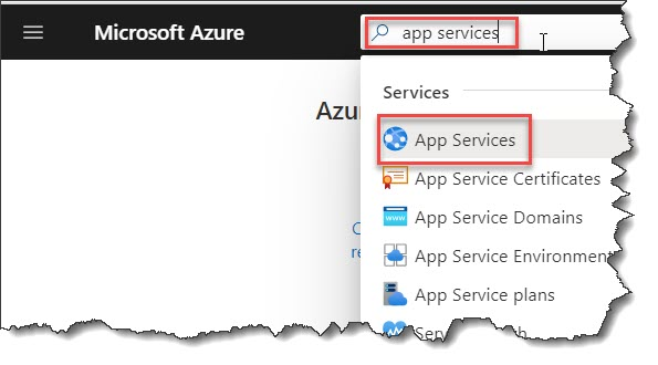 How to configure a web app in Azure