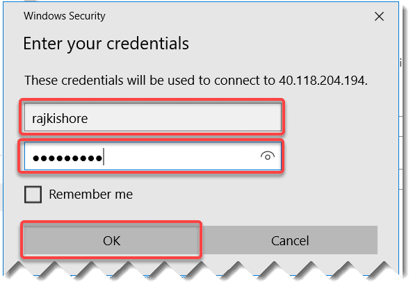 How to connect to my Azure VM