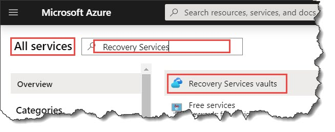 How to create a Recovery Services vault