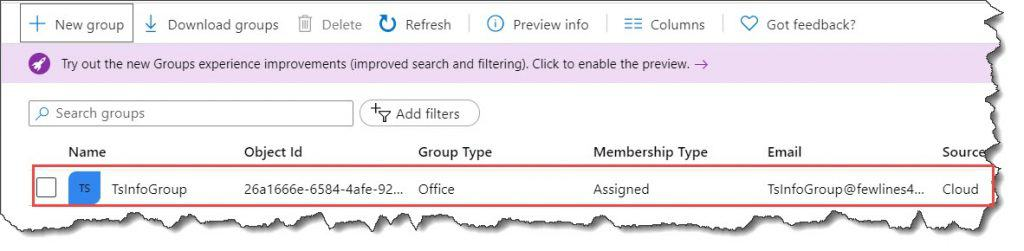 create security group in azure ad