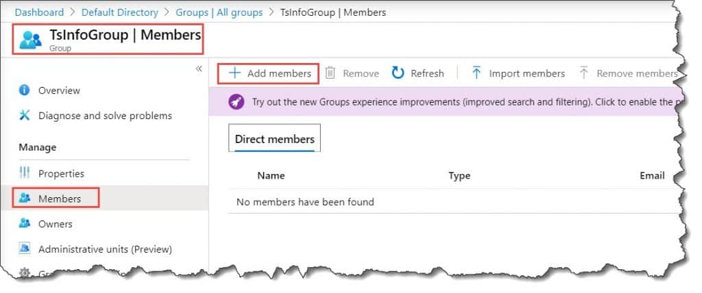 create security group in azure active directory