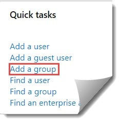 Azure Active Directory create group