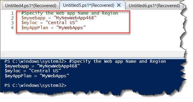 How to create an Azure web app using PowerShell
