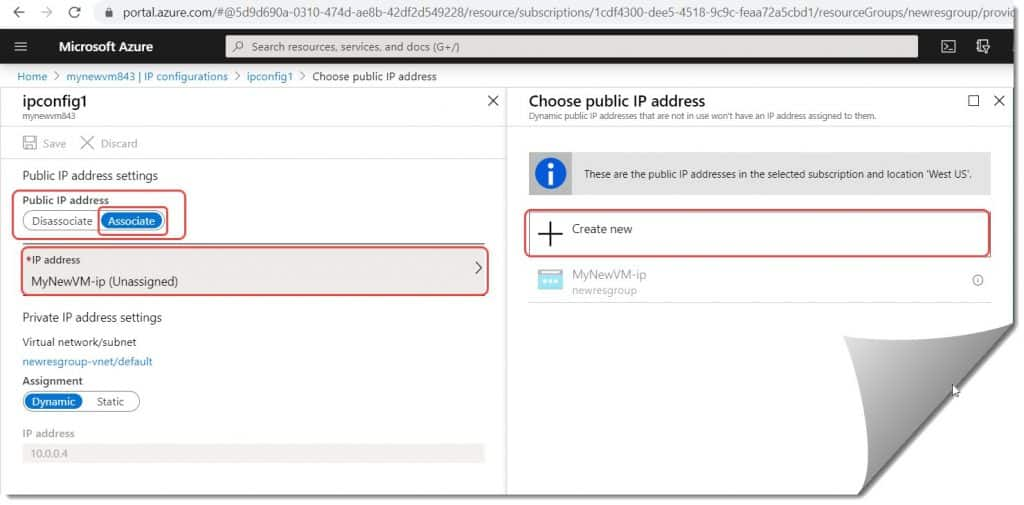How to enable a static public IP for an existing VM in Azure