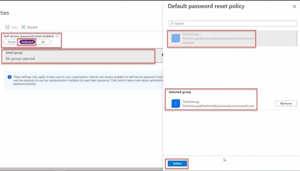 Microsoft active directory self-service password reset