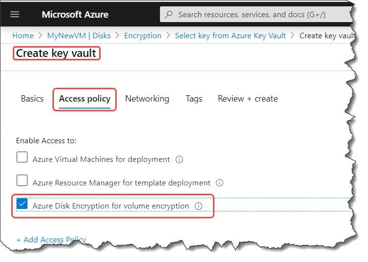 How to encrypt a virtual machine in Azure