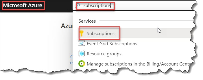 How to get your subscriptionId in Azure portal
