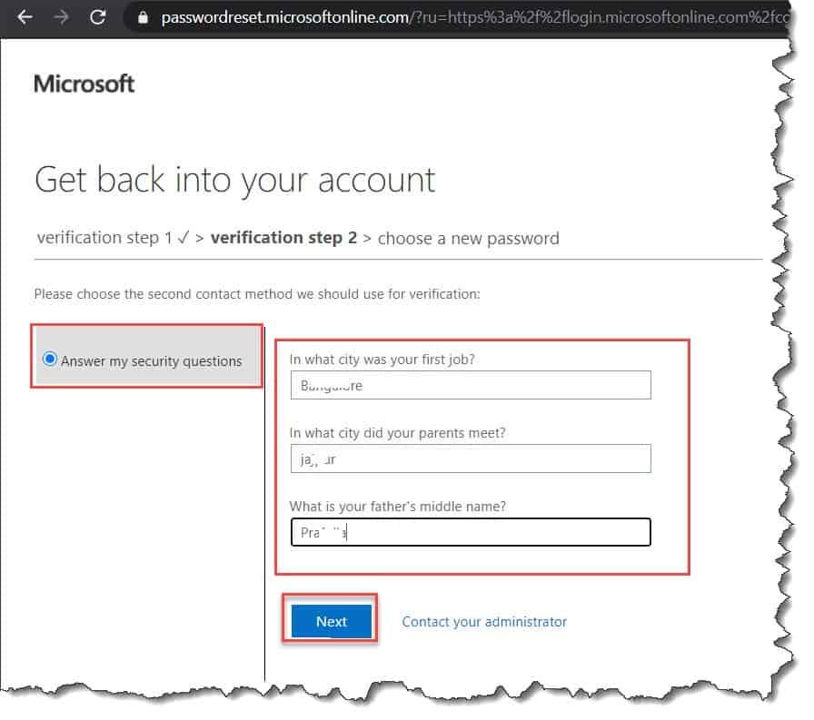 How to set self-service password reset azure active directory