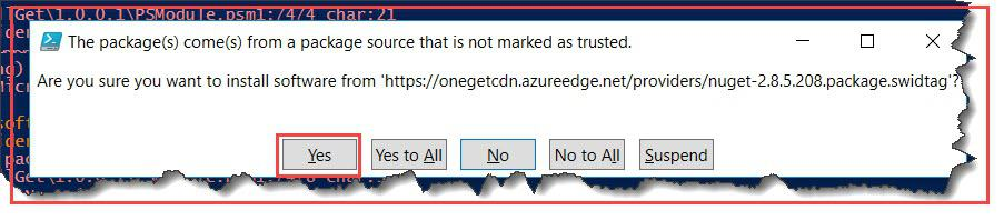 install-packageprovider no match was found for the specified search criteria nuget