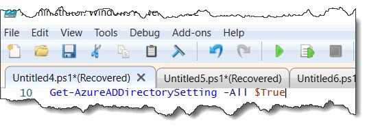 Read group settings at the directory level using PowerShell
