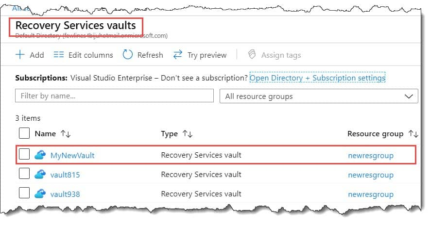 How to enable cross-region restore for the services vault