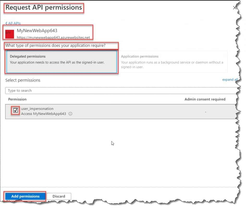 configure the web app authentication and authorization in azure app service