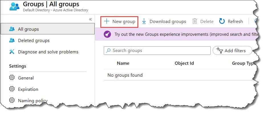 how to Create a group and add members in Azure Active Directory