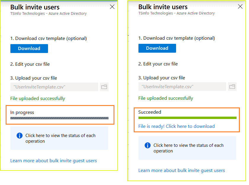 how to add bulk guest users in Azure AD