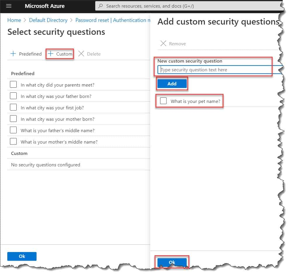 how to configure the authentication methods and registration options