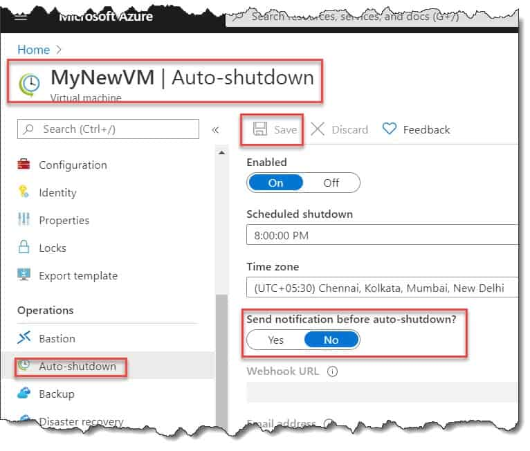 how to disable notification before auto-shutdown