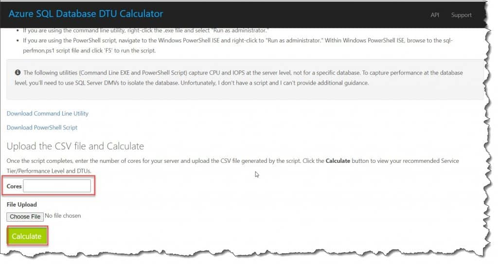 Azure dtu calculator