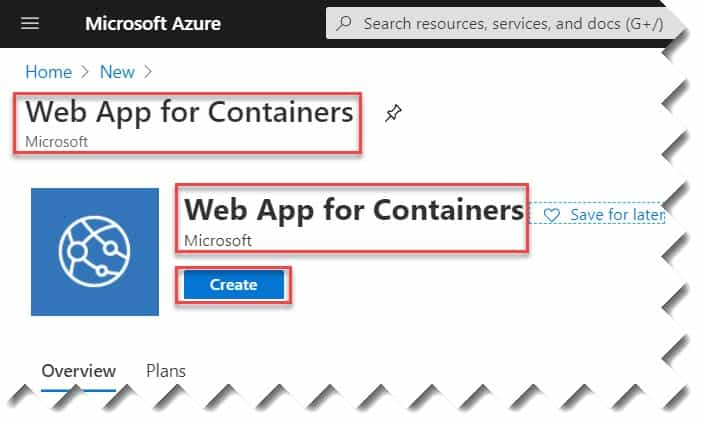 Azure web app for containers tutorials