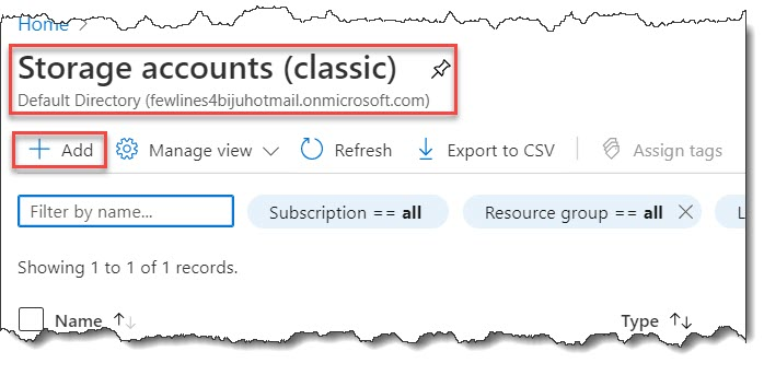 Create a storage account in Azure