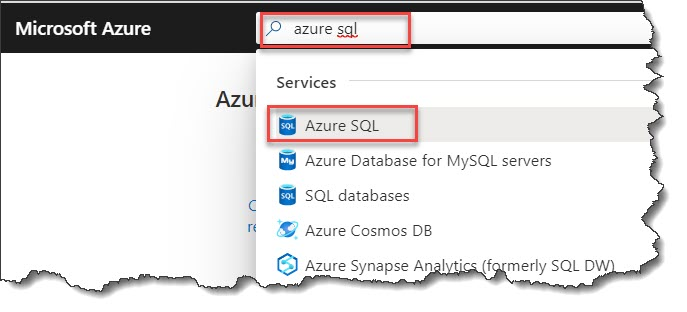 Create an Azure SQL database step b step tutorial