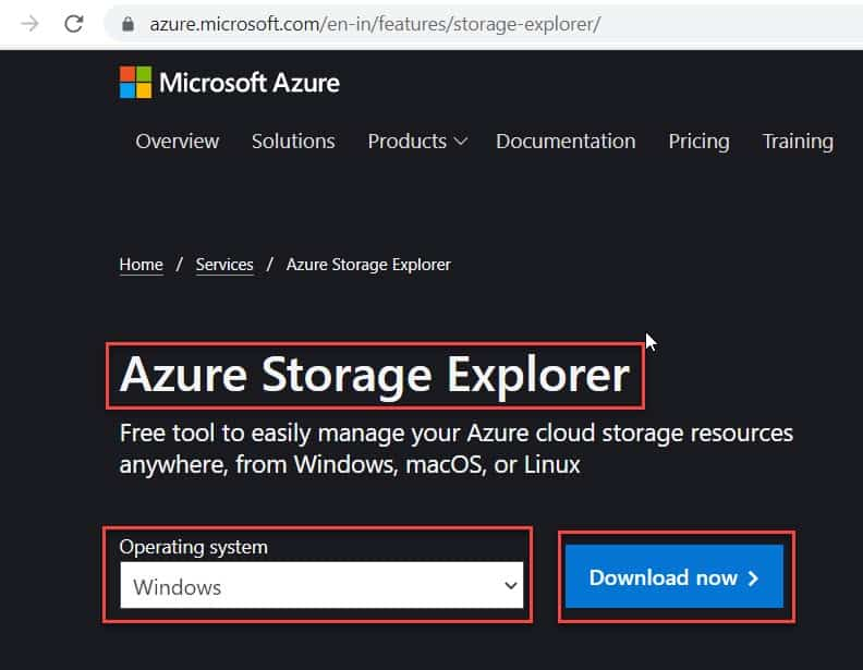 azure storage explorer download