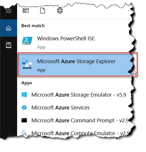 How to access the Azure storage Explorer?