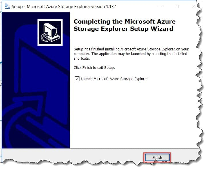 How to configure the Azure storage Explorer