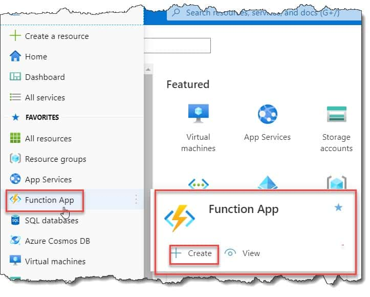 How to create a function in Azure portal