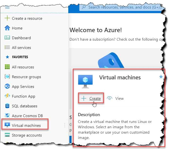 How to create a virtual machine using Azure portal