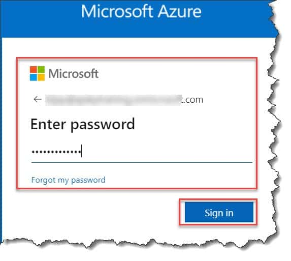 How to login to the Azure portal