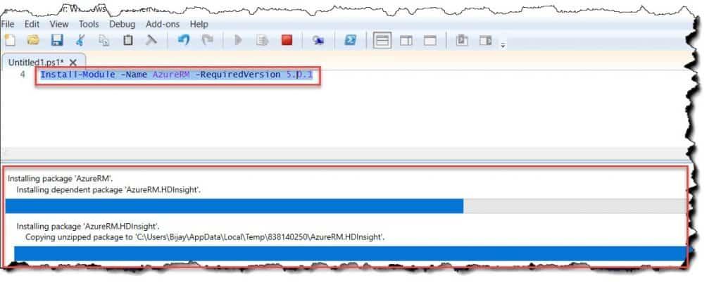 Install AzureRM module using PowerShell