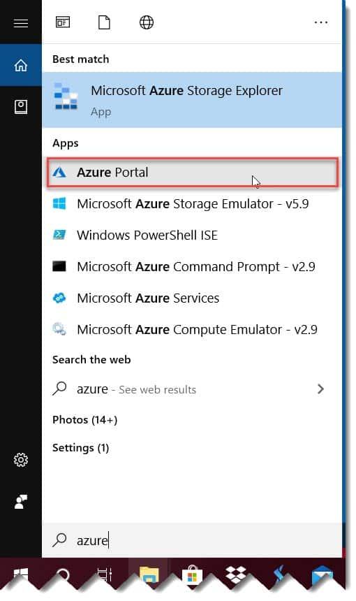 Installation of Azure Portal app