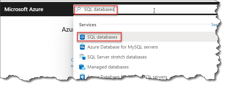 Query the SQL database in Azure