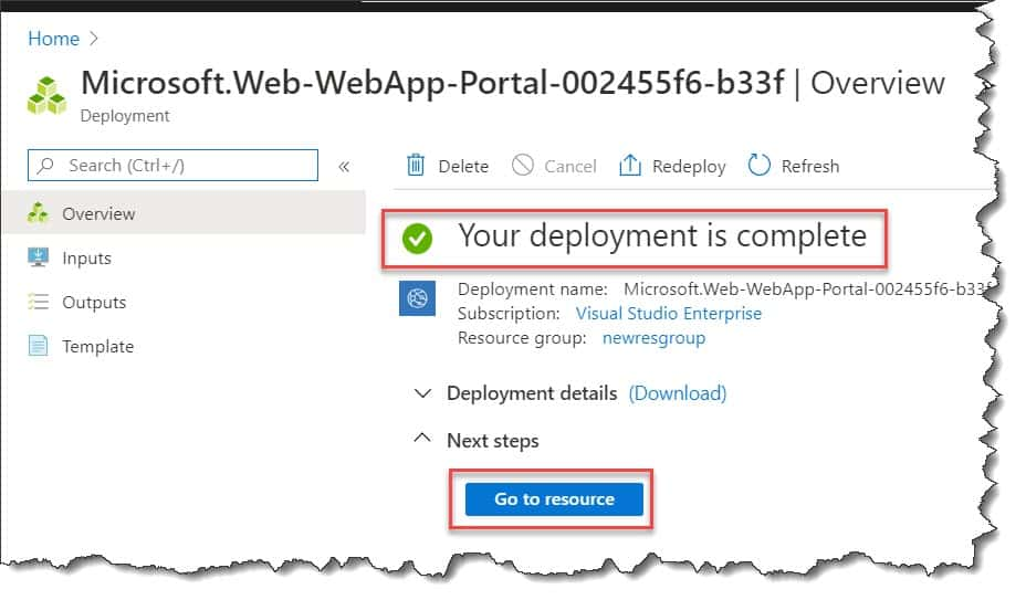 What is web app for containers