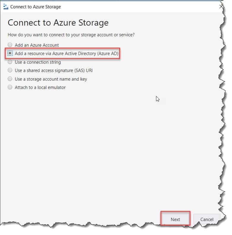 how to add a resource via Azure AD
