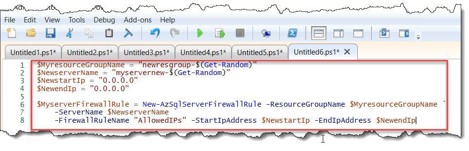 powershell create sql database