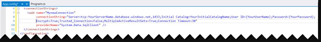 Azure SQL Database Connection String